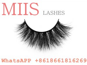 3D mink eyelashes with private label